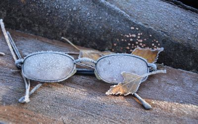 Winter betekend zonnebril dragen